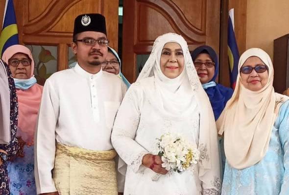 Beza usia 34 tahun bukan halangan Zaleha menikahi Ashraf